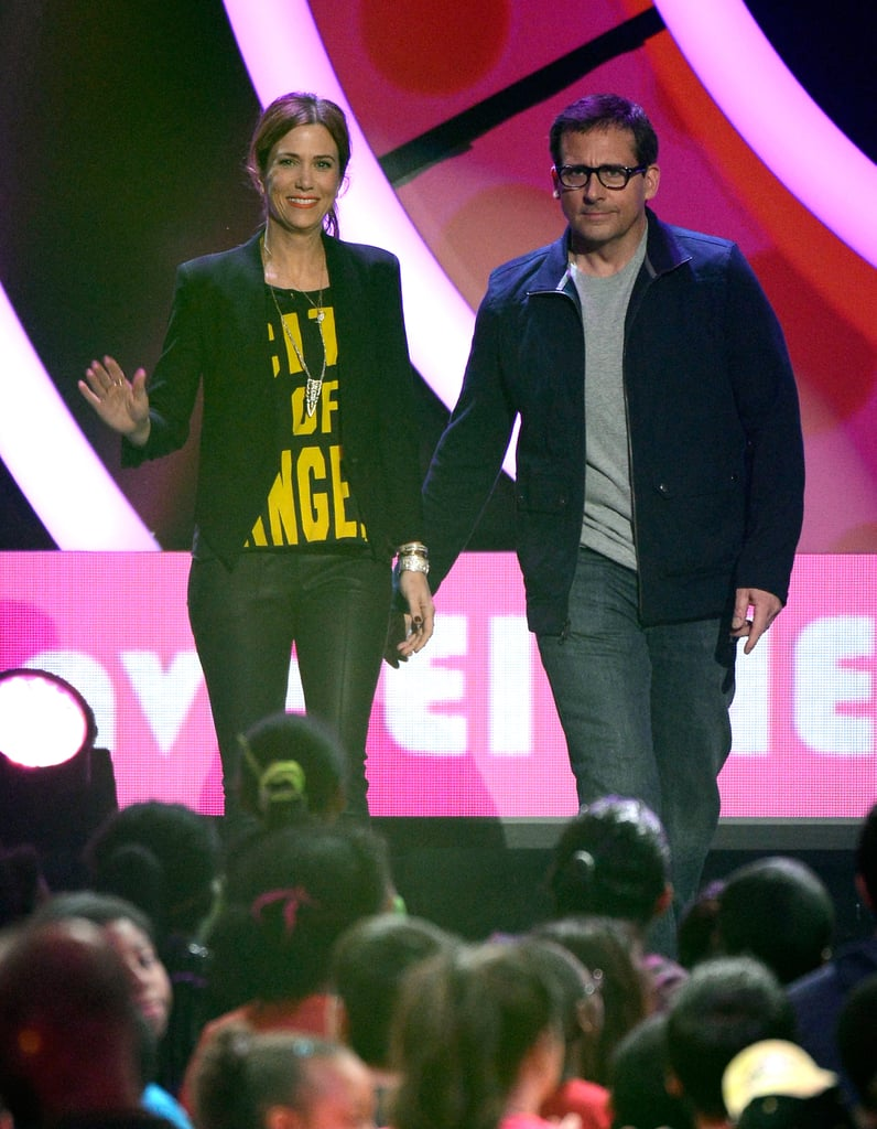 Kristen Wiig was joined by Steve Carell on stage.