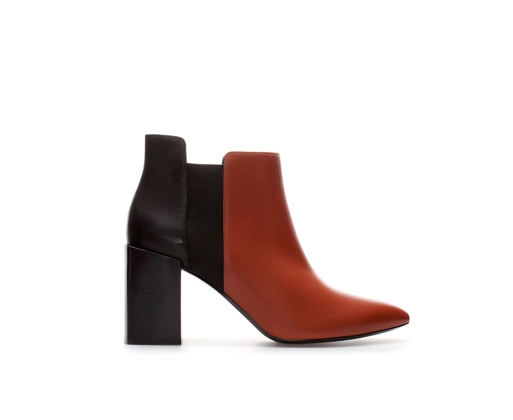 The sleekest kind of bootie, this Zara two-tone boot ($159) could easily rev up your jeans and t-shirt routine.