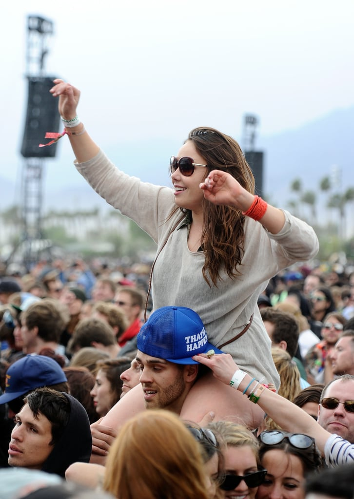 A pair took the party to new heights during Coachella.