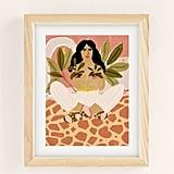 Alja Horvat Crazy Plant Lady Art Print