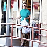 Britney Spears was seen carrying several shopping bags.