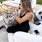 Khloé Opened a Gift From Kim and North — Look at That Kimoji Wrapping Paper!