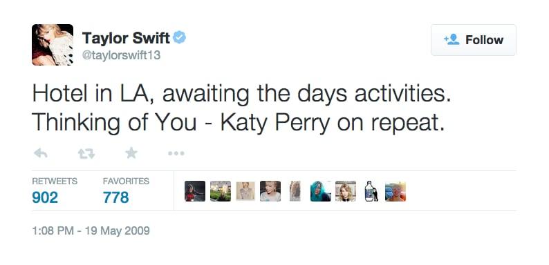 May 19, 2009: Taylor Mentions Katy