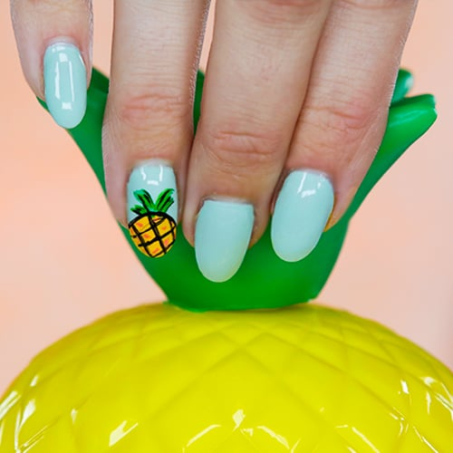 - Pineapple Nail Art Tutorial POPSUGAR Beauty