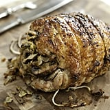 Herb-Crusted Turkey Breast With Mushroom Leek Stuffing