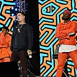 "J Balvin rocked the stage with his performance of ""Mi Gente""."