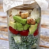 Chicken Caesar Kale Mason Jar Salad