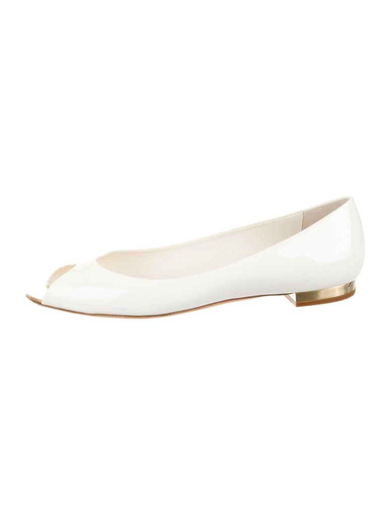 Chanel Patent Leather Peep-Toe Flat ($325)