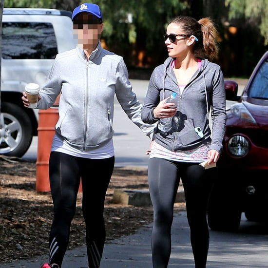 Guess Which Celeb Went Walking With a Friend?