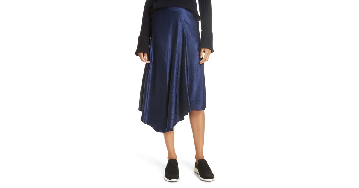 1a7e058590 Vince Asymmetrical Crinkled Satin Skirt | What to Shop | Sept. 4, 2018 |  POPSUGAR Fashion Photo 9