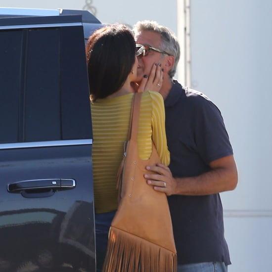 George and Amal Clooney Kissing in LA October 2016