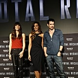 Jessica Biel, Kate Beckinsale, and Colin Farrell promoted Total Recall in Cancun, Mexico.