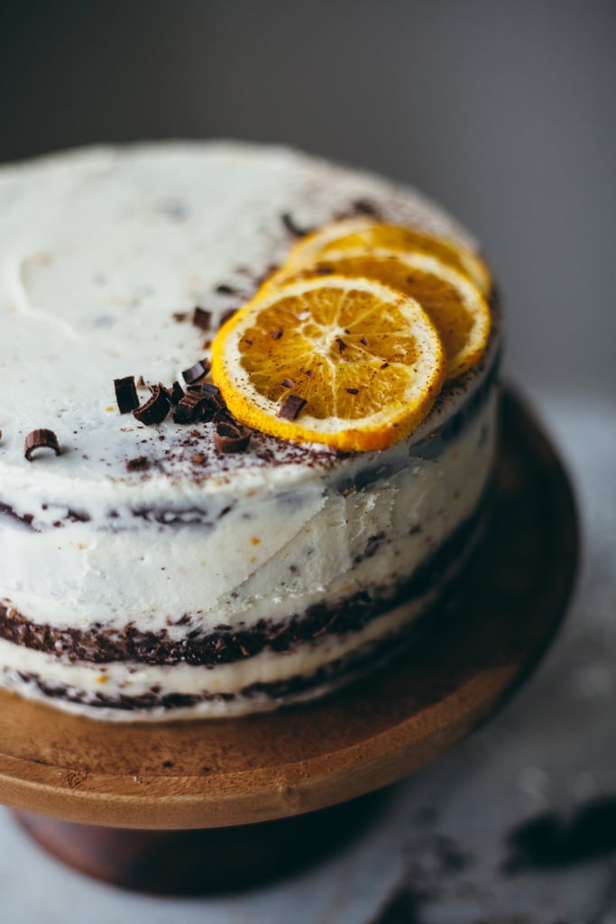 Chocolate Macaroon Cake With Orange Buttercream