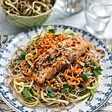 Honey-Soy Salmon With Soba Noodles, Zucchini, and Carrots