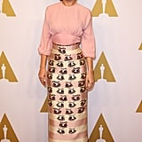 Brie looked equal parts trendsetting and sophisticated in Emilia Wickstead at the Academy Awards Nominee Luncheon in 2016.