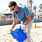 """POPSUGAR: You participated in the Ocean Beach Pier Cleanup in San Diego today. Why does the Love the Ocean Campaign mean so much to you? Scott Eastwood: We're doing this great campaign with Davidoff Cool Water and the National Geographic called the Pristine Seas Project and it's been going on for the last five years. Every bottle of Cool Water sold goes to protect 10,000 square meters of ocean. So to give you just a reference, where we are today, only two percent of the world's oceans are actively protected, so that's a very, very small number. As a goal with this partnership, by 2020 to protect 10 percent of the world's oceans. PS: What is the biggest thing you hope people learn from the campaign? SE: I guess the biggest thing is that we all be a part of the solution. Everything from taking 20 minutes out of your day to organize an event like this whether you're at a beach or not, in your local community, or being conscious of the decisions we make. When you go to a restaurant, """"Do I need to drive? Do I need to use plastic? Do you guys have paper containers instead of plastic?"""" Just being educated in the choices we have. PS: You're also a big water sports guy. Now that it's Summer, what do you love most about being at the beach? SE: Everything really. I love the ocean. The ocean is somewhere where I can just forget about any of the bullsh*t going on in my life."""