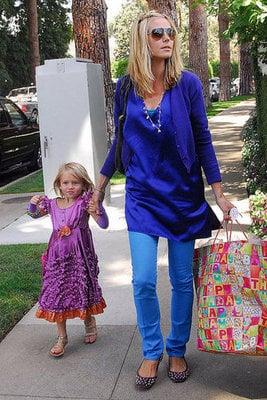 Heidi Klum and Leni Celebrate Four Years