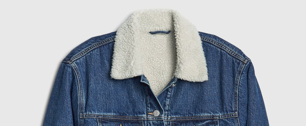 Sherpa Denim Jacket For Fall
