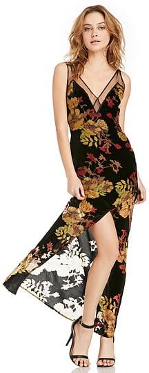 For Love & Lemons Dusty Rose Velvet Maxi Dress ($260)