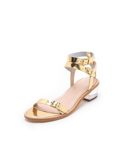 We promise, these Loeffler Randall Heddie Lucite heel sandals ($325) will go with everything, from your guest-of-the-wedding dress to your go-to jeans and tees, making them well worth the investment.