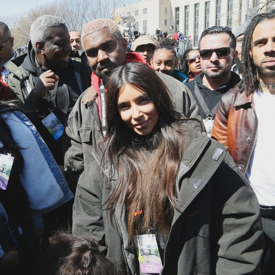 Kim Kardashian and Kanye West at March For Our Lives