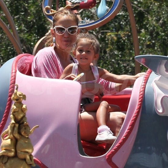 Jennifer Lopez Brings Max and Emme to the Happiest Place on Earth