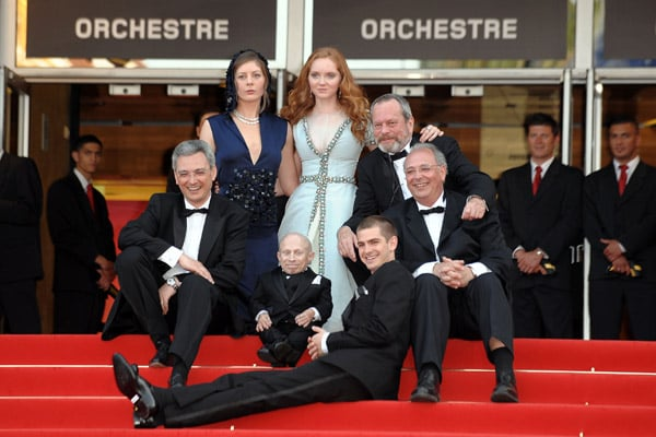 Lily Cole with cast at The Imaginarium of Dr. Parnassus premiere