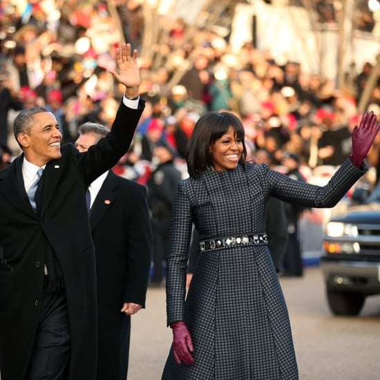 Barack Obama and Michelle Obama at Inauguration Parade