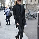 With fringe to lend personality to an all-black outfit.