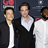 Rami Malek, Robert Pattinson, and John David Washington