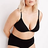 Madewell Second Wave Cutout Bralette Bikini Top and Retro High Waist Bikini Bottom