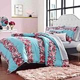 Betsey Johnson Banded Floral Comforter Bonus Set