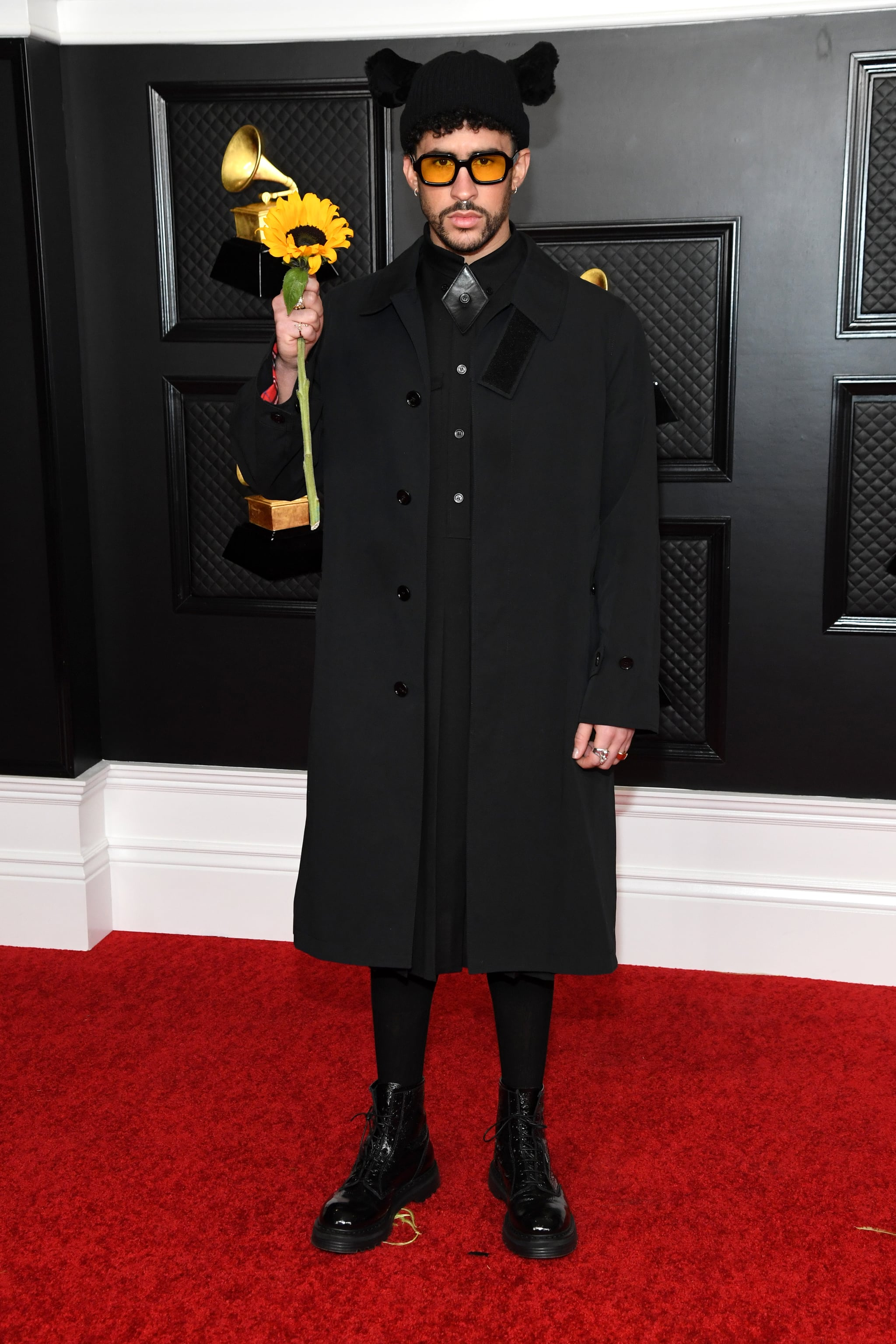 Bad Bunny at the 2021 Grammy Awards | A Stylish, Star-Packed Grammys Red Carpet Is Music to Our Ears | POPSUGAR Fashion Photo 11