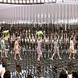 The Set at the Grand Palais Was Completely Mirrored, Inspired By Coco Chanel's Mirrored Staircase in Her Atelier