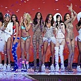 Pictured: Izabel Goulart, Sui He, Barbara Fialho, Gigi Hadid, Cindy Bruna, Stella Maxwell, Taylor Hill, Rachel Hilbert, Kate Grigorieva, Sharam Diniz, and Monika Jagaciak
