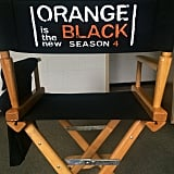 Nick Sandow, who plays Caputo, showed off the special new season four director chairs.