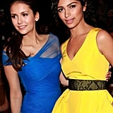 Nina Dobrev and Camila Alves made the scene together twice at Sunday's shows.
