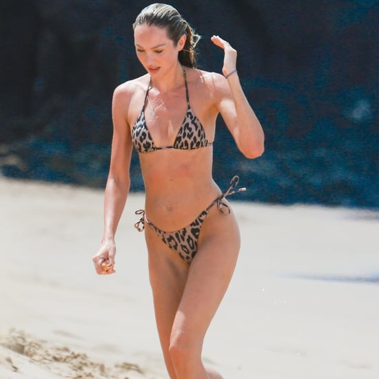 Candice Swanepoel Leopard Bikini