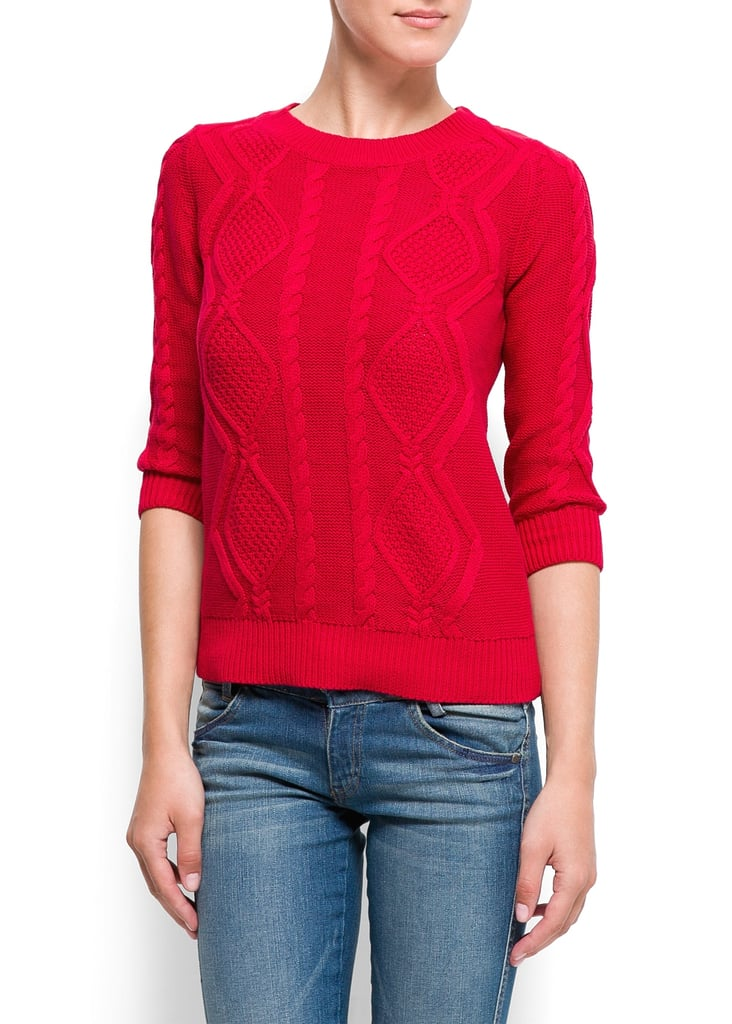 6015c33a6f Mango s Cotton Cable Knit Jumper ( 45) has a slim fit and comes in ...