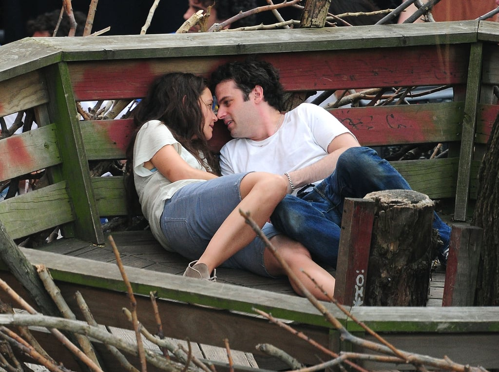 Katie Holmes Packs in a PDA-Filled Day on Set