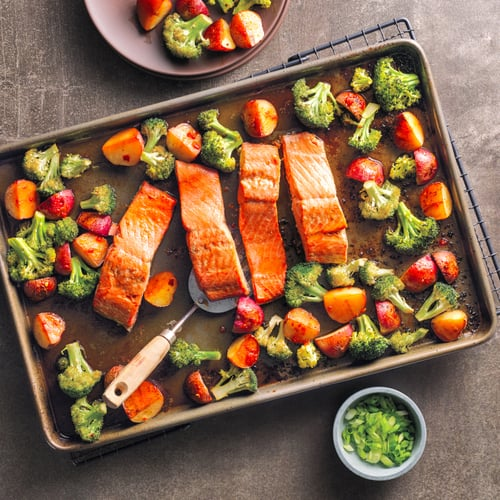 Asian Salmon Sheet-Pan Dinner