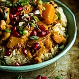 Pumpkin Chicken Curry With Coconut Almond Rice