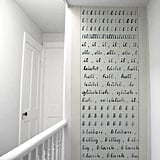 "Wallpaper ""Cahier d'ecriture"" by Madame Chalet ($153/roll)"