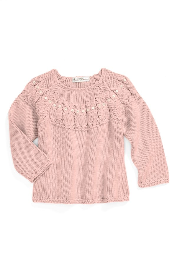 4274ef8fa571 Pearls   Popcorn Knit Sweater