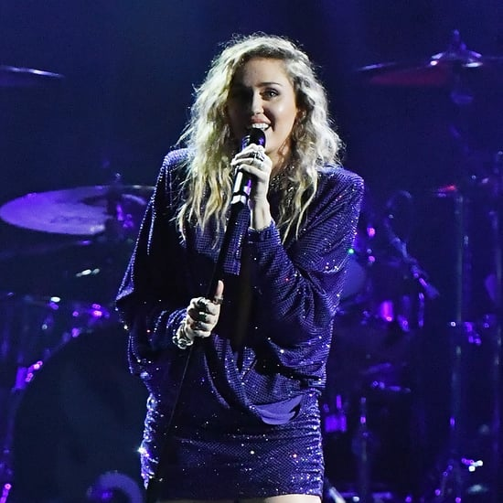 Miley Cyrus's Purple Minidress January 2019