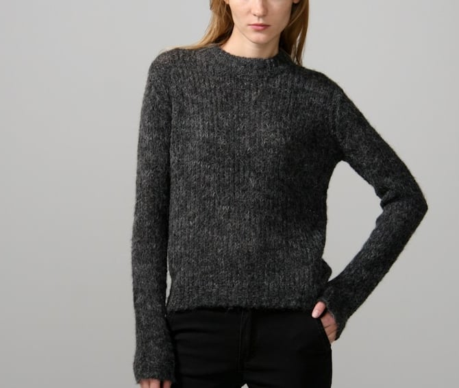 You can't go wrong with a soft charcoal-hued Cheap Monday sweater ($80), especially because the wear-time on this layer will last you for seasons to come.