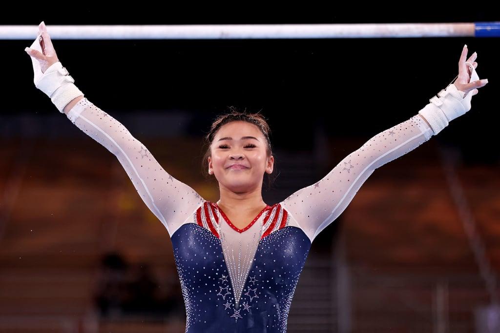 American Sunisa Lee at the Tokyo Olympics Women's Gymnastics All-Around Final