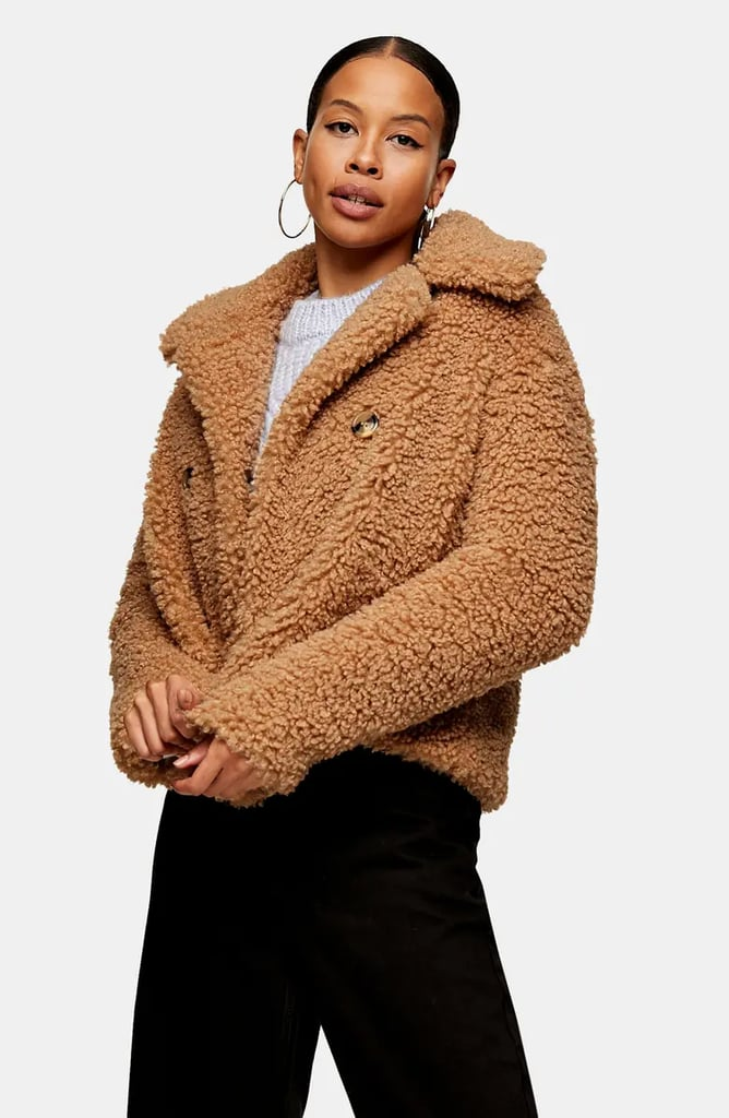 Topshop Ami Borg Faux Fur Jacket