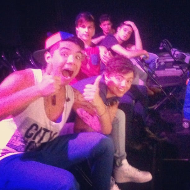 The Collective tried to make out that rehearsals were fun. Source: Instagram user willsinge