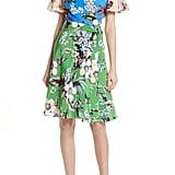 Diane von Furstenberg Flutter Sleeve Silk Wrap Dress